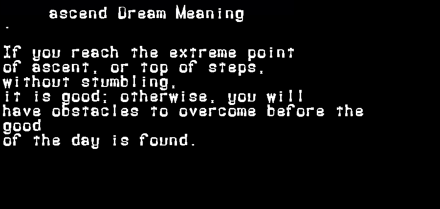 dream meanings ascend