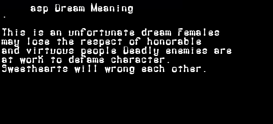 dream meanings asp