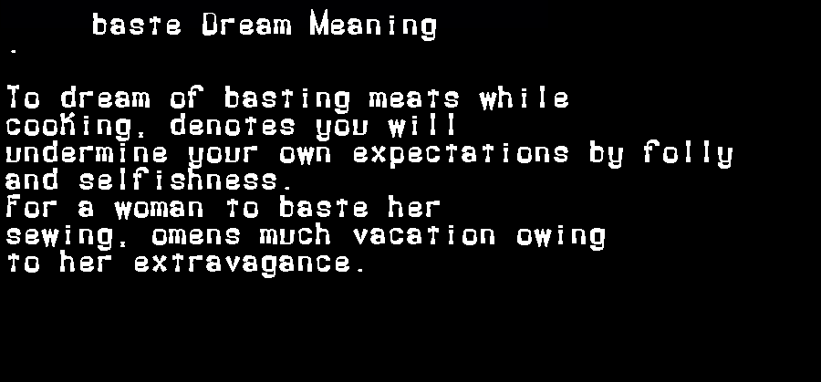 dream meanings baste