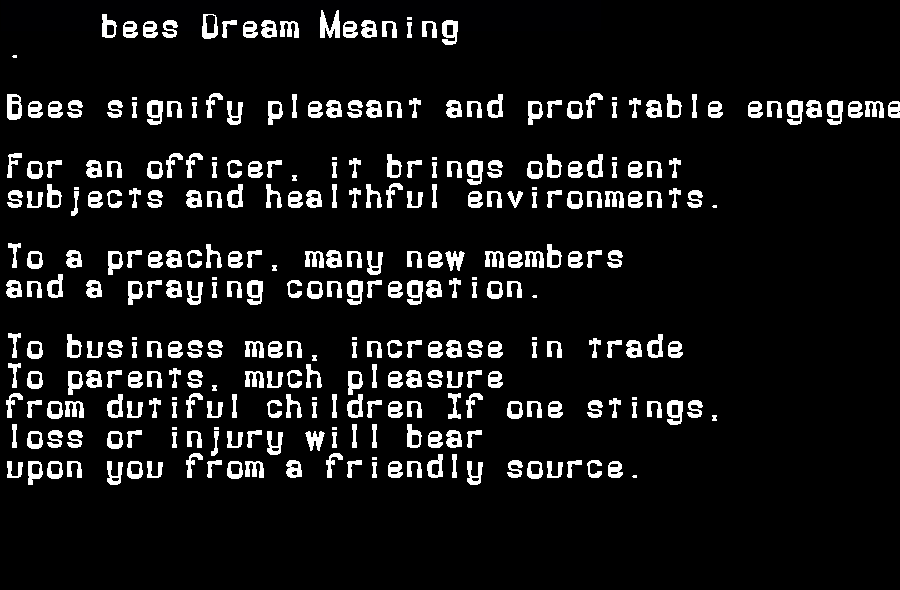 dream meanings bees