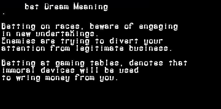 dream meanings bet