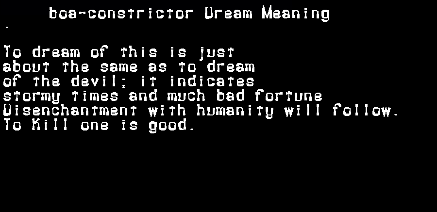 dream meanings boa-constrictor
