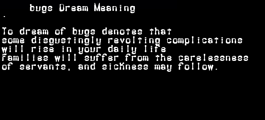 dream meanings bugs