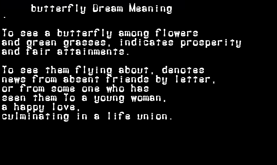 dream meanings butterfly