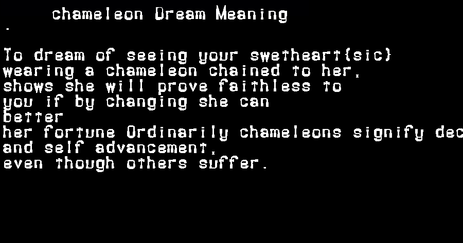dream meanings chameleon