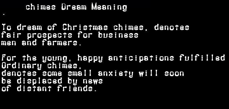 dream meanings chimes
