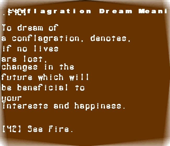 dream meanings conflagration