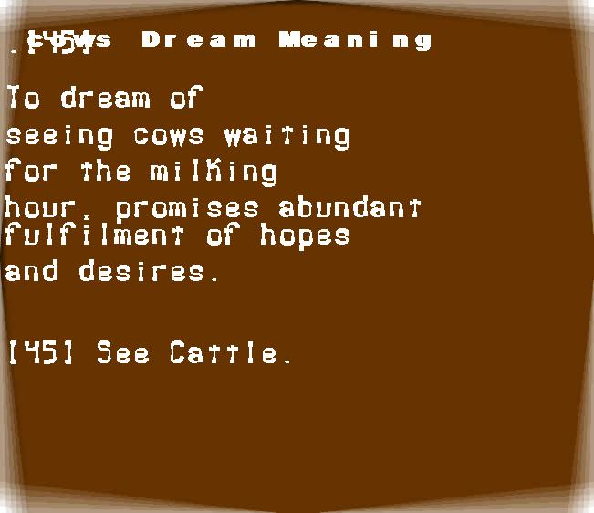 dream meanings cows