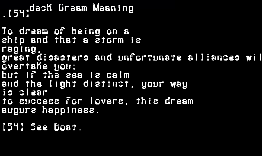 dream meanings deck