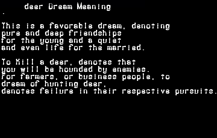 dream meanings deer