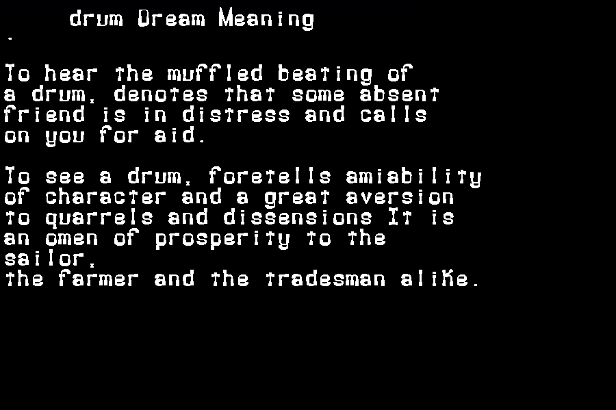 dream meanings drum
