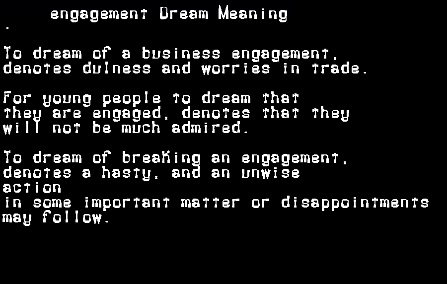 dream meanings engagement