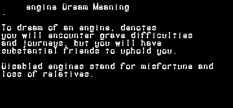 dream meanings engine