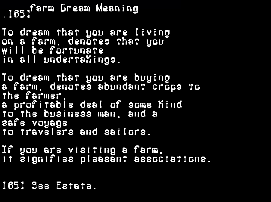 dream meanings farm