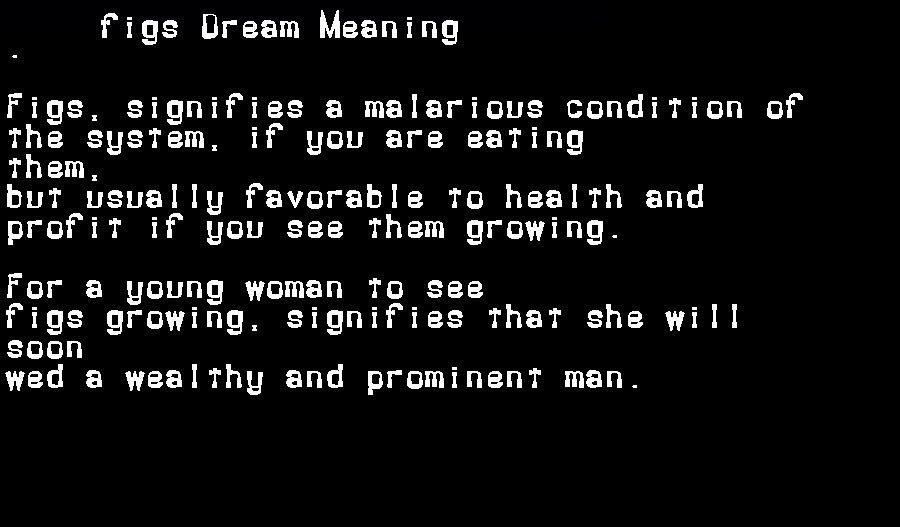 dream meanings figs