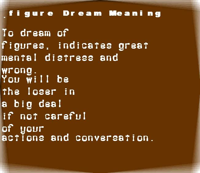 dream meanings figure