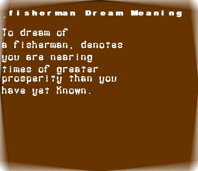 dream meanings fisherman
