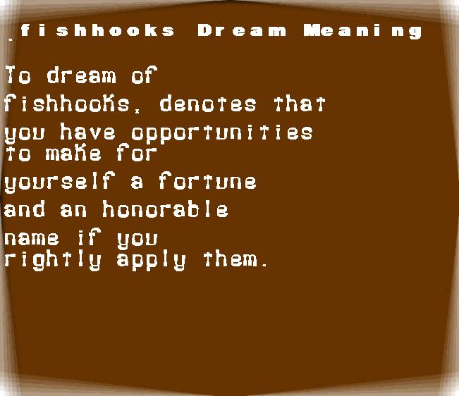 dream meanings fishhooks