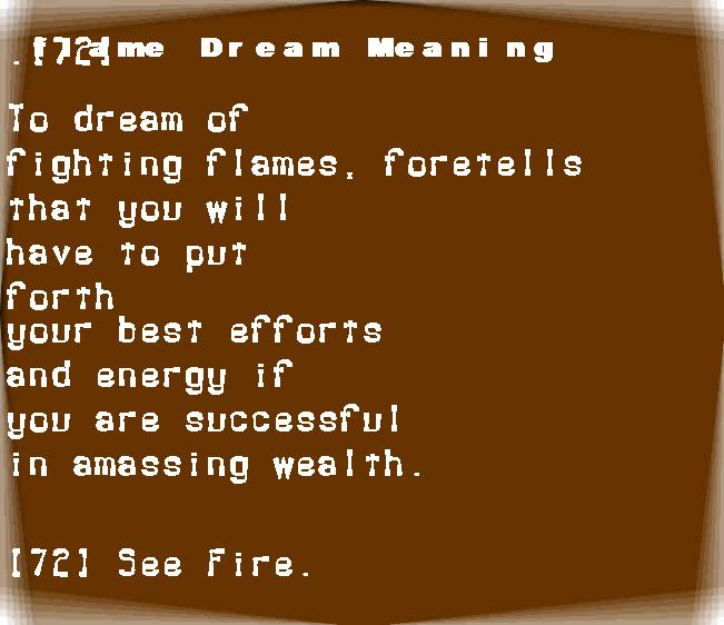 dream meanings flame