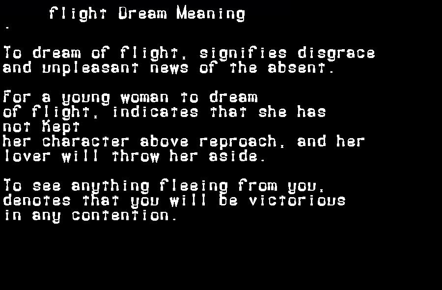 dream meanings flight