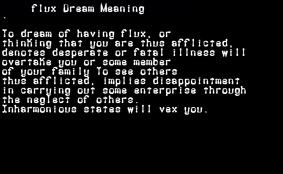 dream meanings flux