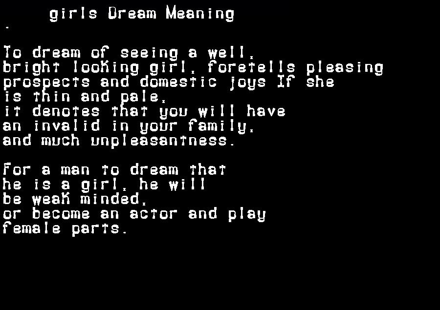 dream meanings girls