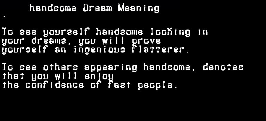 dream meanings handsome