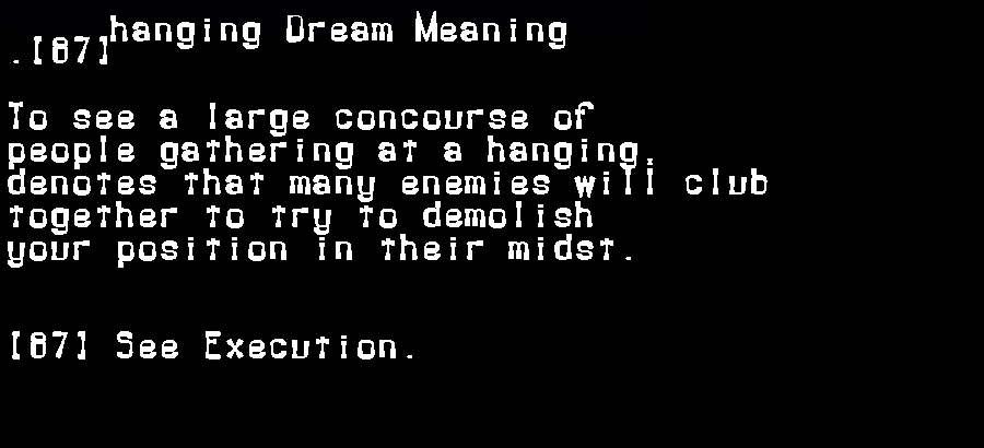 dream meanings hanging