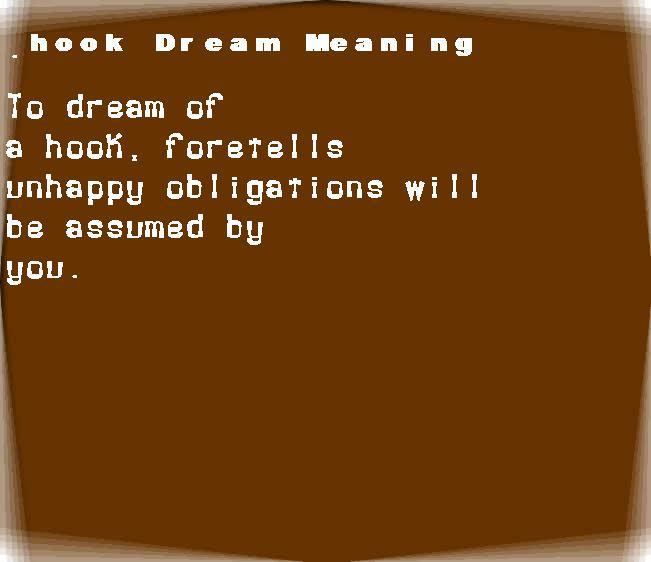dream meanings hook