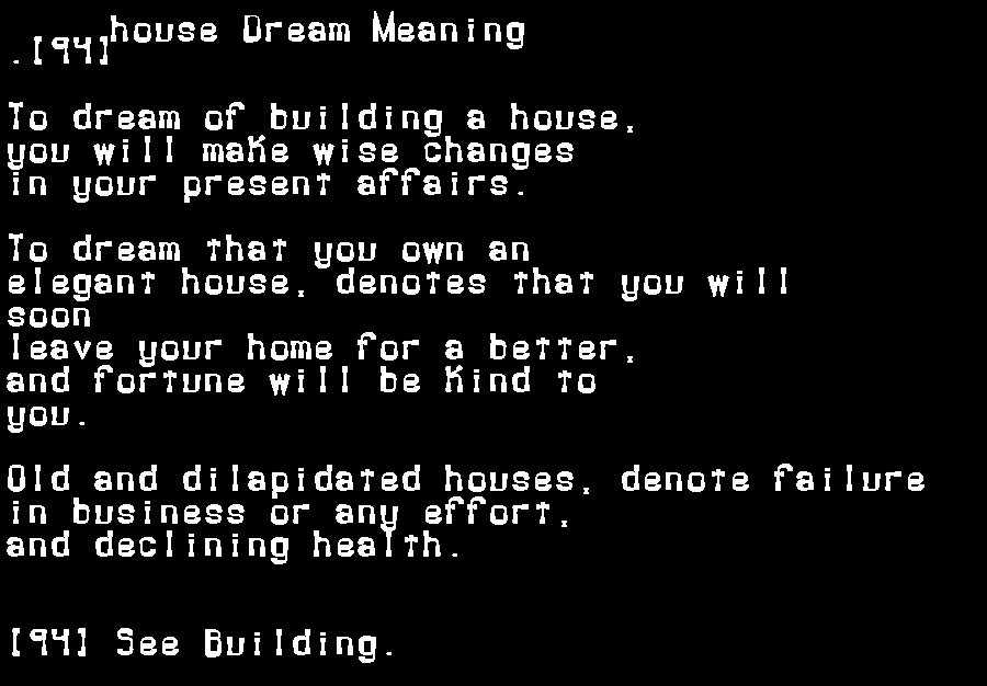 dream meanings house