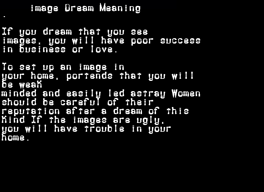 dream meanings image