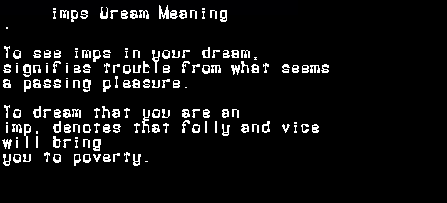 dream meanings imps