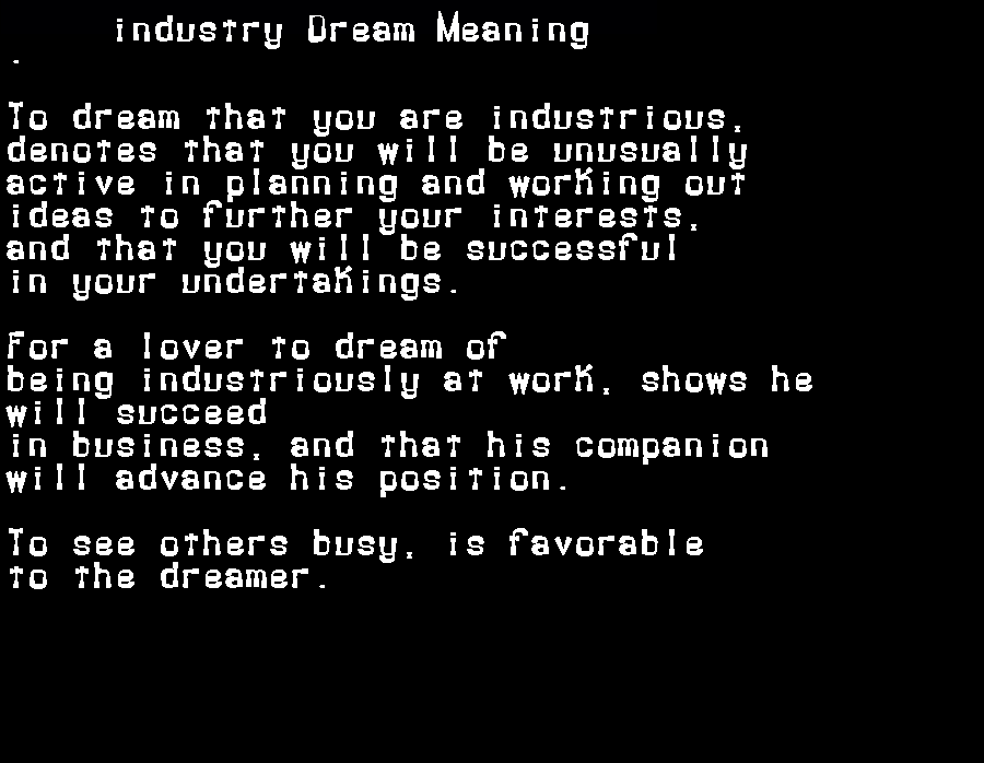 dream meanings industry