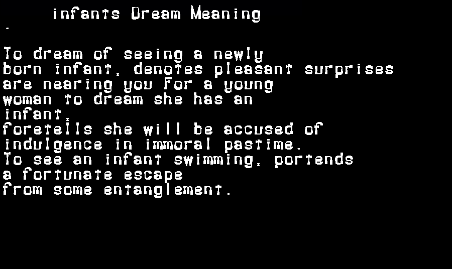 dream meanings infants