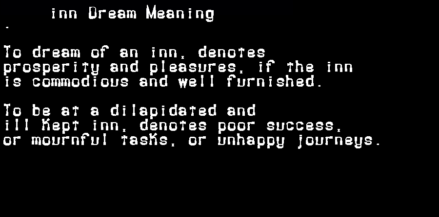 dream meanings inn