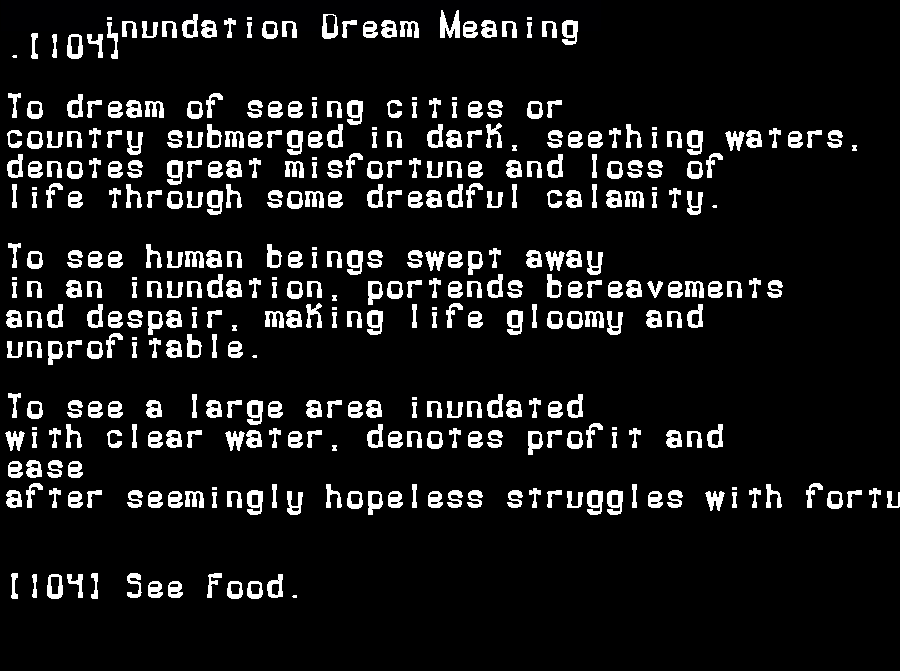 dream meanings inundation