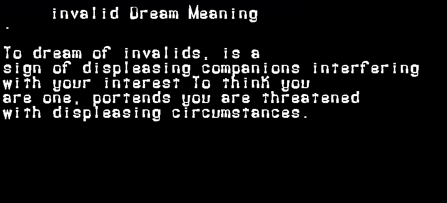 dream meanings invalid