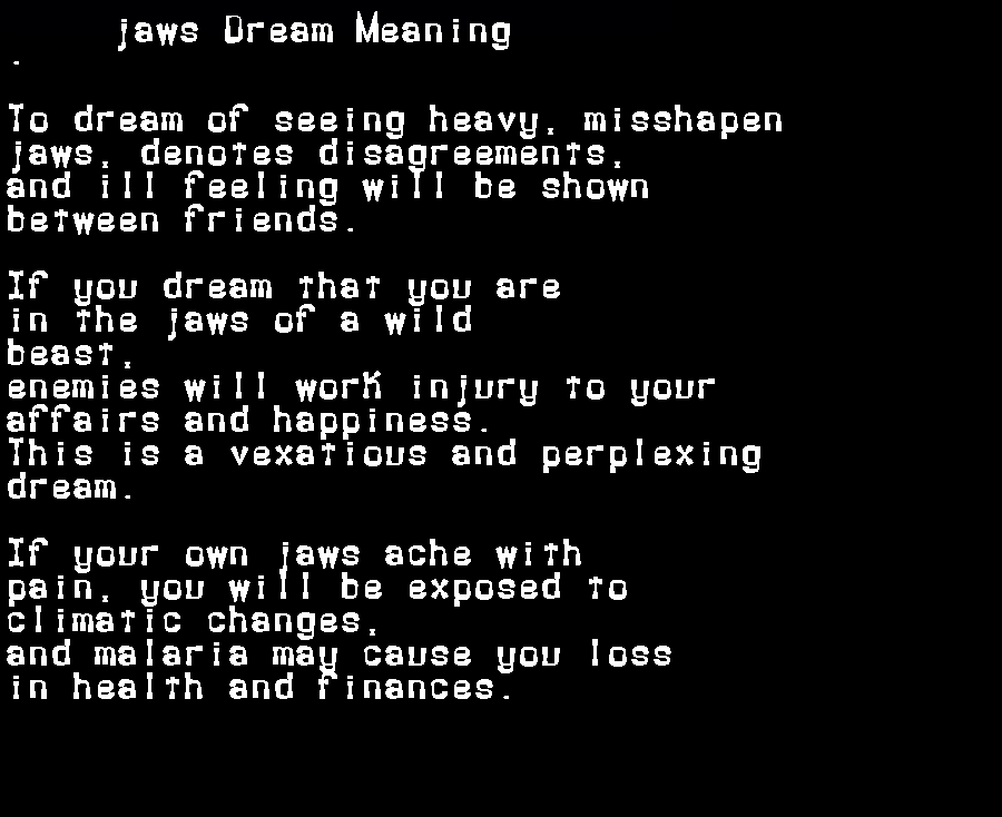 dream meanings jaws