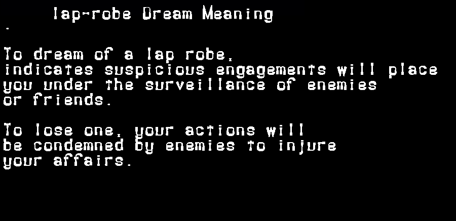 dream meanings lap-robe