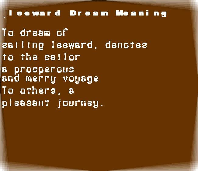 dream meanings leeward