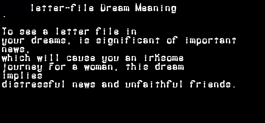 dream meanings letter-file