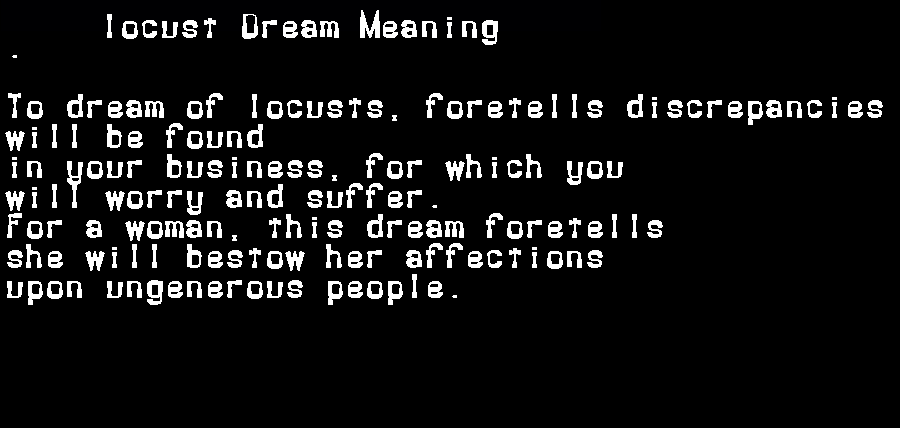 dream meanings locust