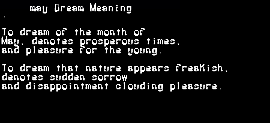 dream meanings may