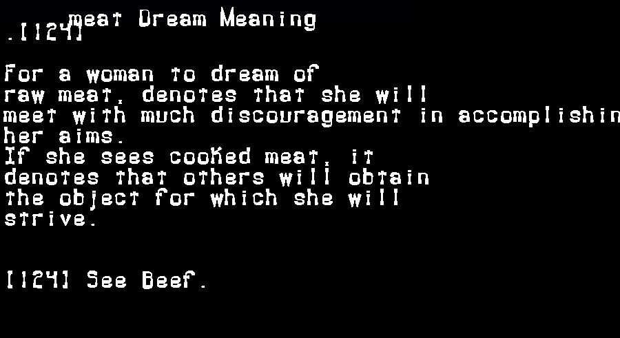 dream meanings meat