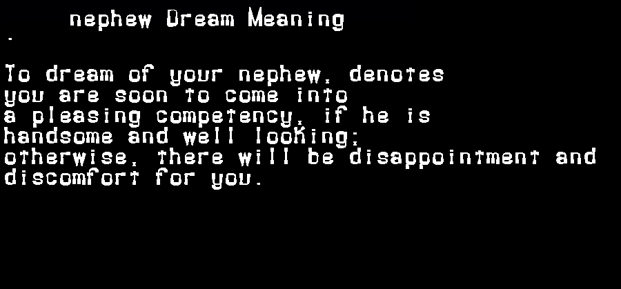 dream meanings nephew