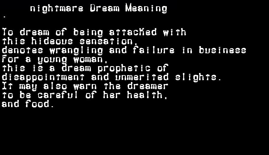 dream meanings nightmare