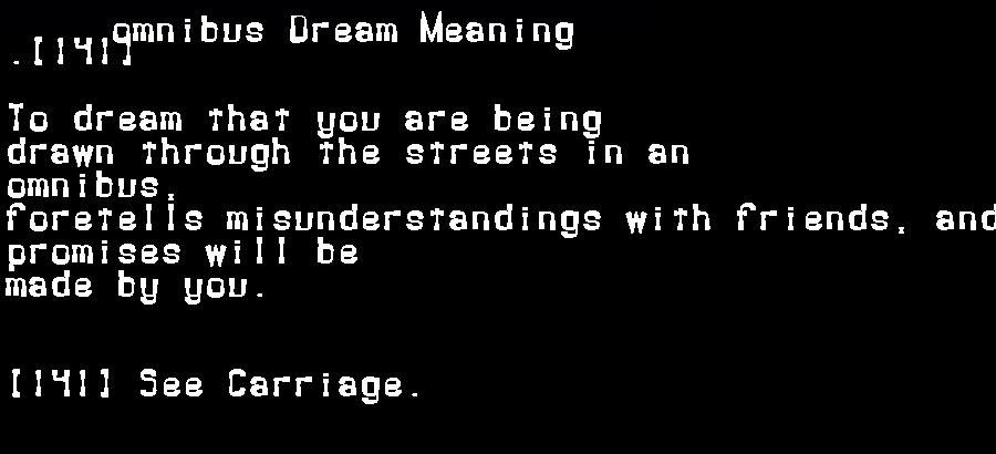 dream meanings omnibus
