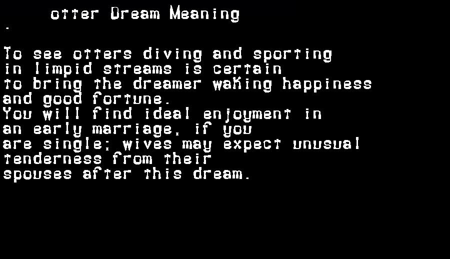 dream meanings otter