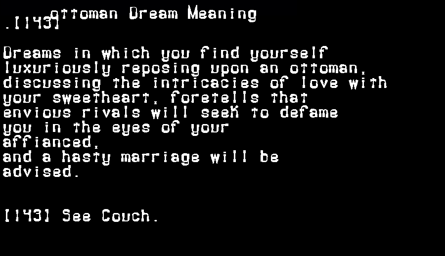 dream meanings ottoman
