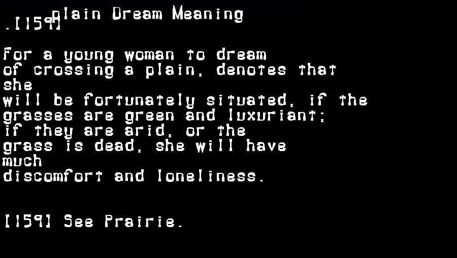 dream meanings plain